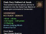 Dark Fury Halberd of Anuk