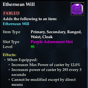 Ethernean Will (92, purple, Fabled) (Version 2)