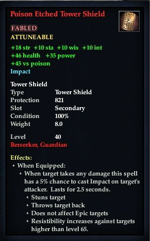 Poison Etched Tower Shield