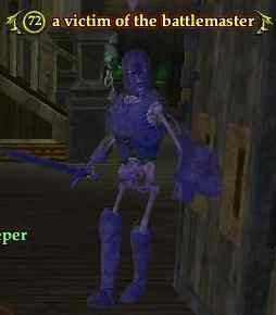 A victim of the battlemaster