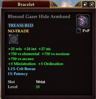 Blessed Gazer Hide Armband