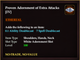 Proven Adornment of Extra Attacks (IV)
