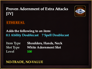 Proven Adornment of Extra Attacks (IV)