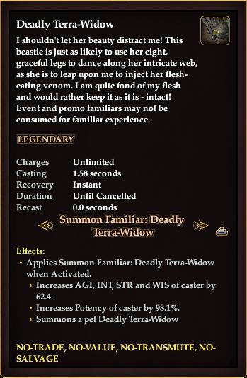 Deadly Terra-Widow (Familiar)