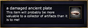 A damaged ancient plate