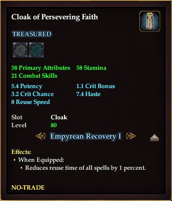Cloak of Persevering Faith