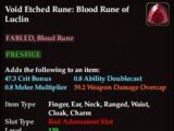Void Etched Rune: Blood Rune of Luclin