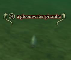 A gloomwater piranha