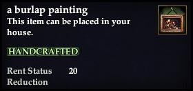 A burlap painting