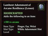 Lambent Adornment of Arcane Resilience (Lesser)