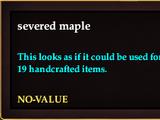 Severed maple