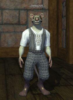 One of the popular original mercenaries, Stamper Jerlaf, found only in Freeport.