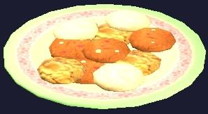 A plate of Frostfell chip cookies