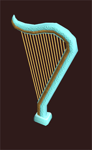 Ancient Musical Harp