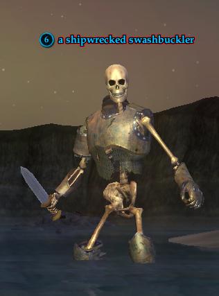 A shipwrecked swashbuckler