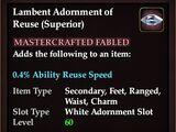 Lambent Adornment of Reuse (Superior)