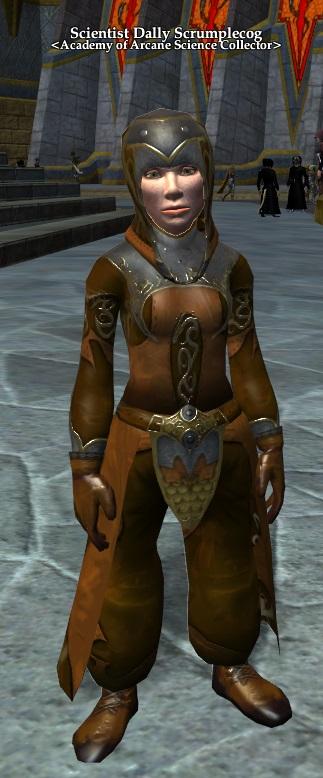 Scientist Dally Scrumplecog (Elemental Storm merchant)