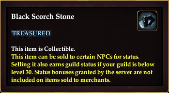 Black Scorch Stone