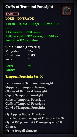 Cuffs of Temporal Foresight (Version 1)