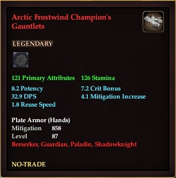 Arctic Frostwind Champion's Gauntlets
