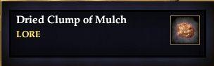 Dried Clump of Mulch
