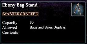 Ebony Bag Stand
