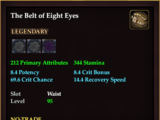 The Belt of Eight Eyes