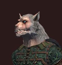 A snarling werewolf mask