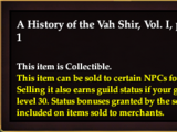 A History of the Vah Shir, Vol. I, page 1