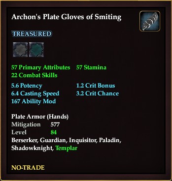 Archon's Plate Gloves of Smiting