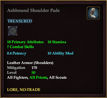 Ashbound Shoulder Pads