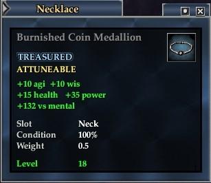 Burnished Coin Medallion