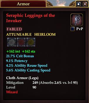 Seraphic Leggings of the Invoker