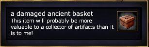 A damaged ancient basket