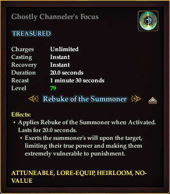 Ghostly Channeler's Focus