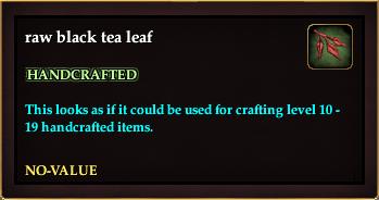 Raw black tea leaf