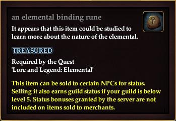 An elemental binding rune