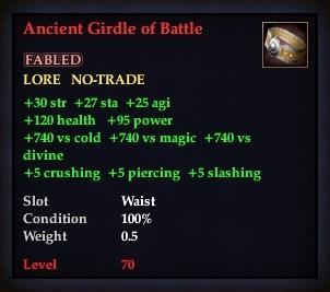 Ancient Girdle of Battle (Version 1)