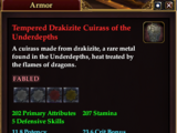 Tempered Drakizite Cuirass of the Underdepths