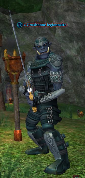 A Crushbone legionnaire (Greater Faydark)