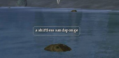A shiftless sandsponge