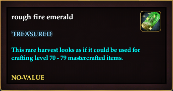 Rough fire emerald (QuestReward)