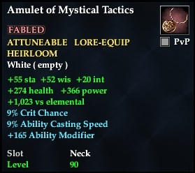 Amulet of Mystical Tactics