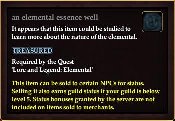 An elemental essence well