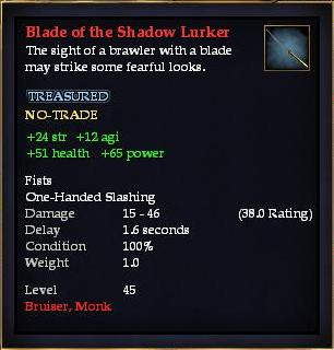 Blade of the Shadow Lurker