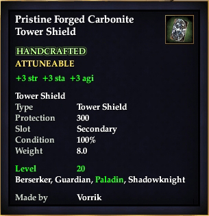 Carbonite Tower Shield