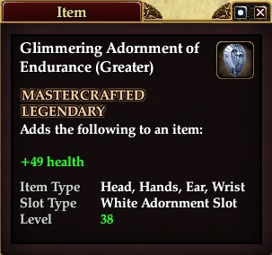 Glimmering Adornment of Endurance (Greater)