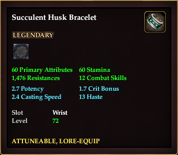 Succulent Husk Bracelet (Level 72)