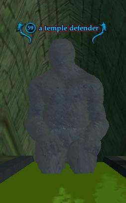 A temple defender