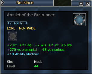 Amulet of the Far-runner